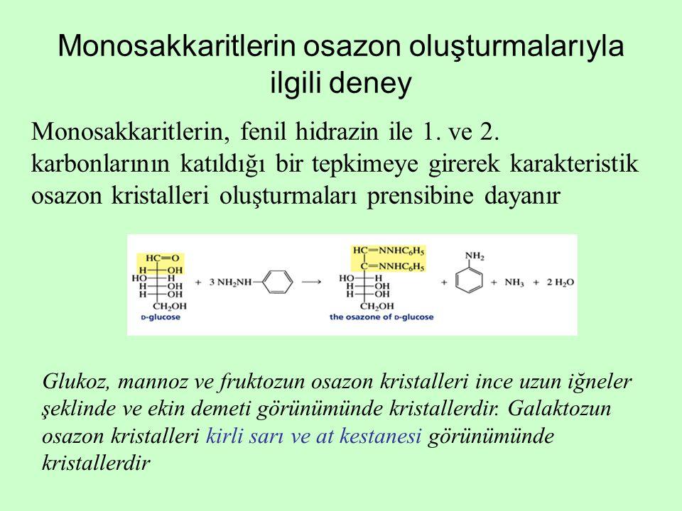 Monosakkaritlerin osazon oluşturmalarıyla ilgili deney