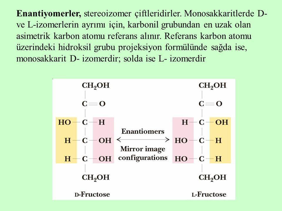 Enantiyomerler, stereoizomer çiftleridirler
