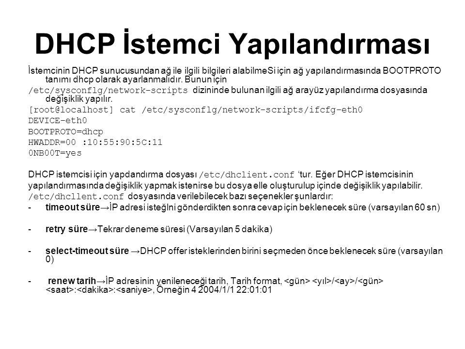 DHCP İstemci Yapılandırması