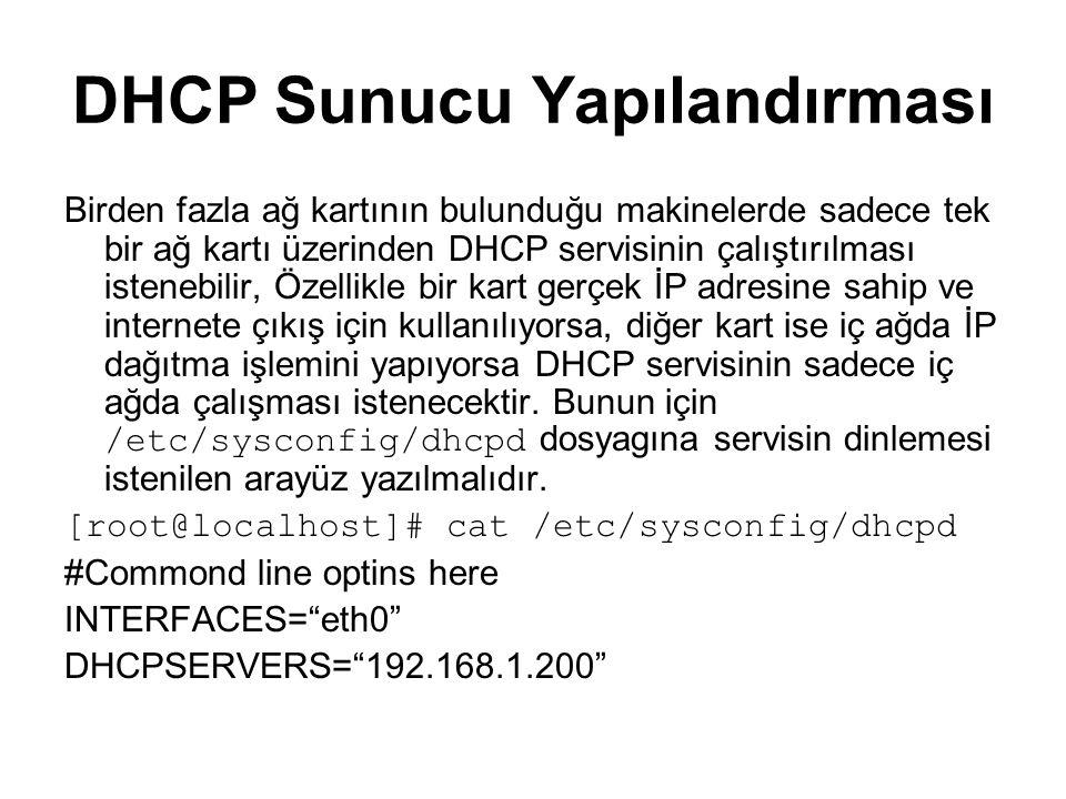 DHCP Sunucu Yapılandırması