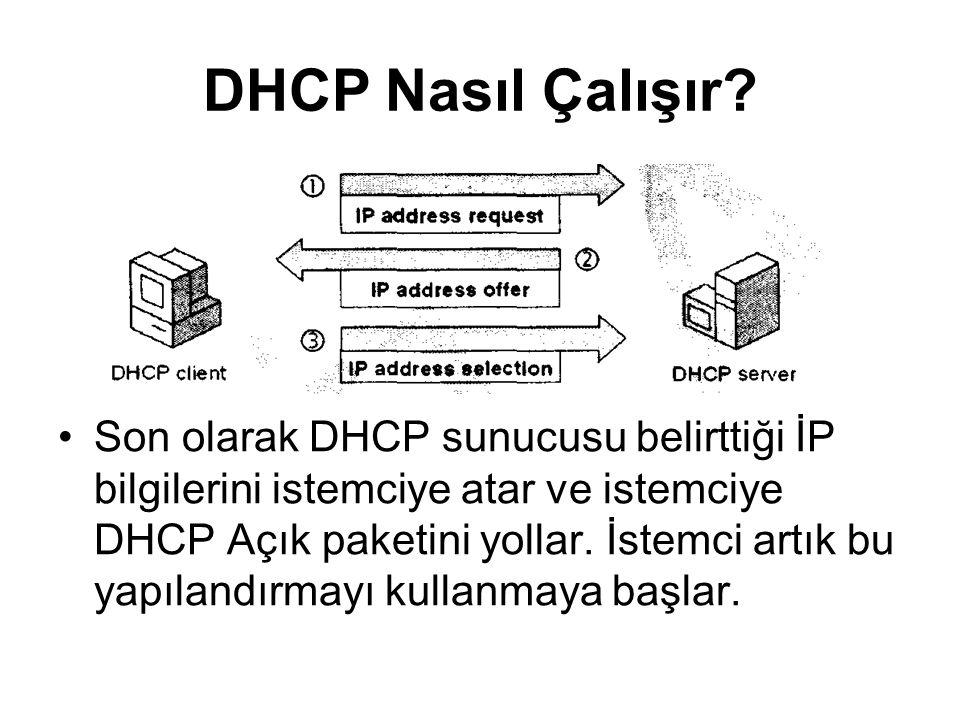 DHCP Nasıl Çalışır