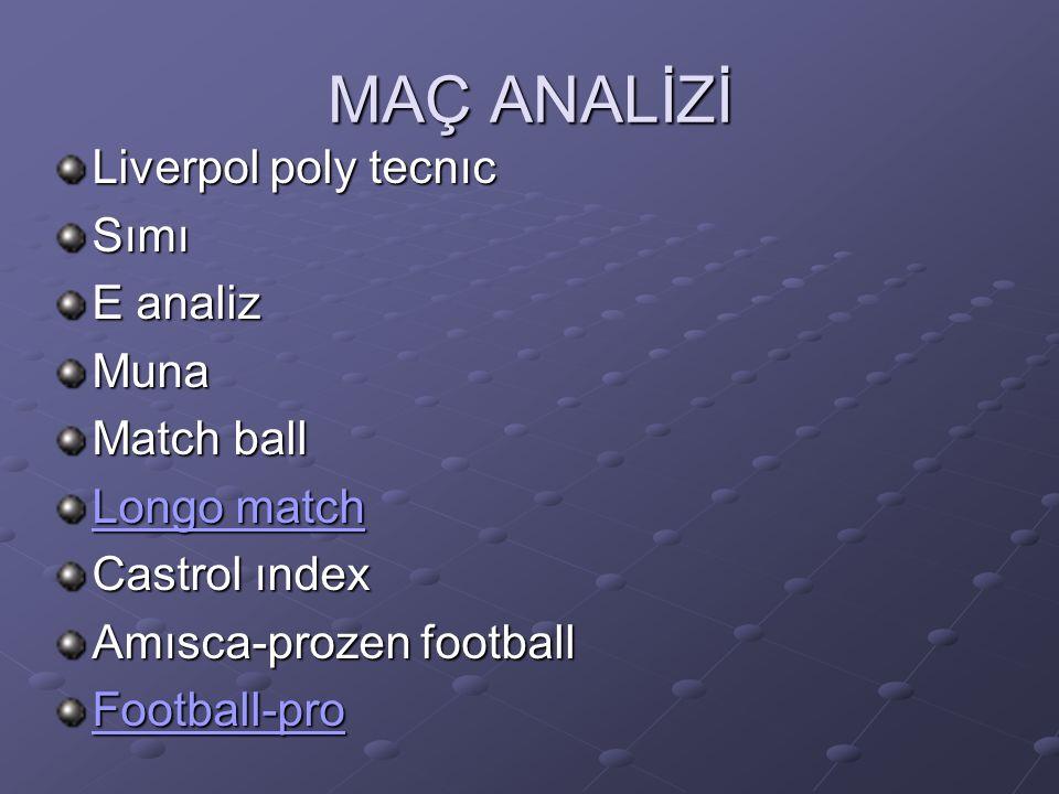 MAÇ ANALİZİ Liverpol poly tecnıc Sımı E analiz Muna Match ball