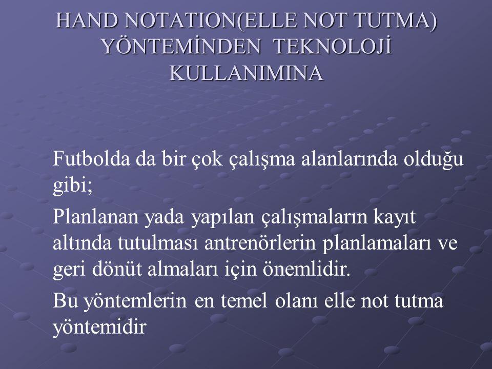 HAND NOTATION(ELLE NOT TUTMA) YÖNTEMİNDEN TEKNOLOJİ KULLANIMINA