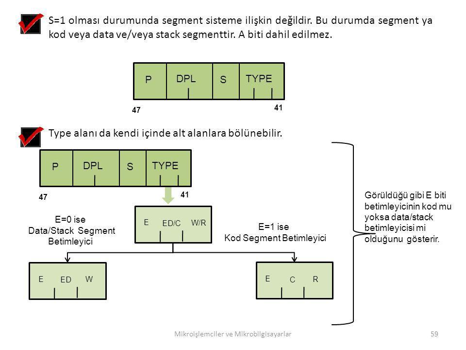 Type alanı da kendi içinde alt alanlara bölünebilir.