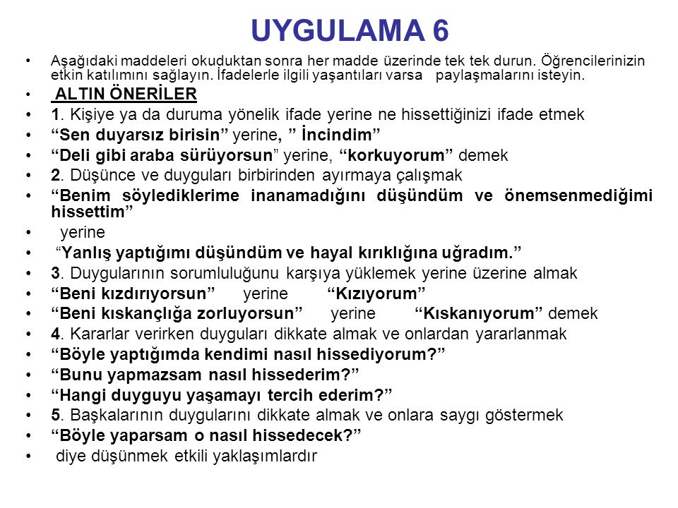 UYGULAMA 6