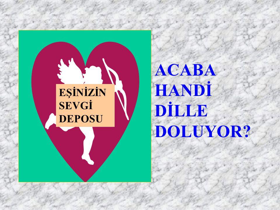 ACABA HANDİ DİLLE DOLUYOR