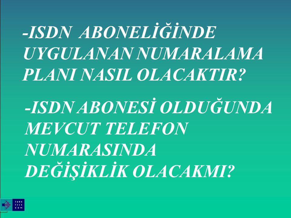 ENTEGRE SERVİSLER SAYISAL ŞEBEKESİ (ISDN)