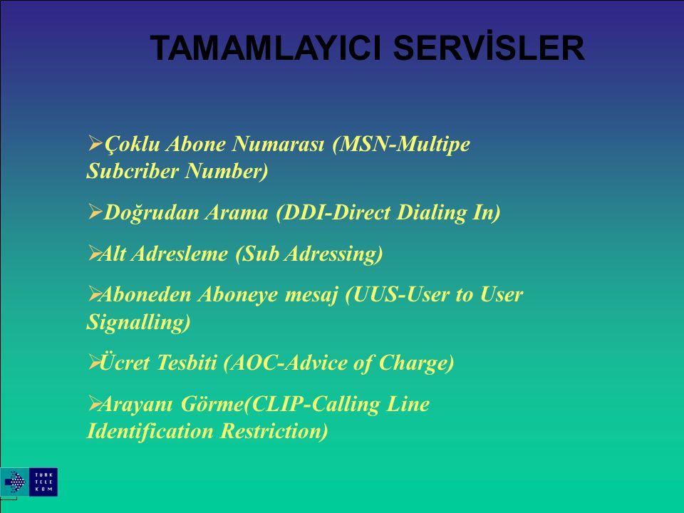 Tüm ISDN servislerine erişim iki telli bakır kablo üzerinden sağlanacaktır. Mevcut ekipmanların ISDN şebekesine irişimi için Terminal Adaptörler kullanılacaktır.