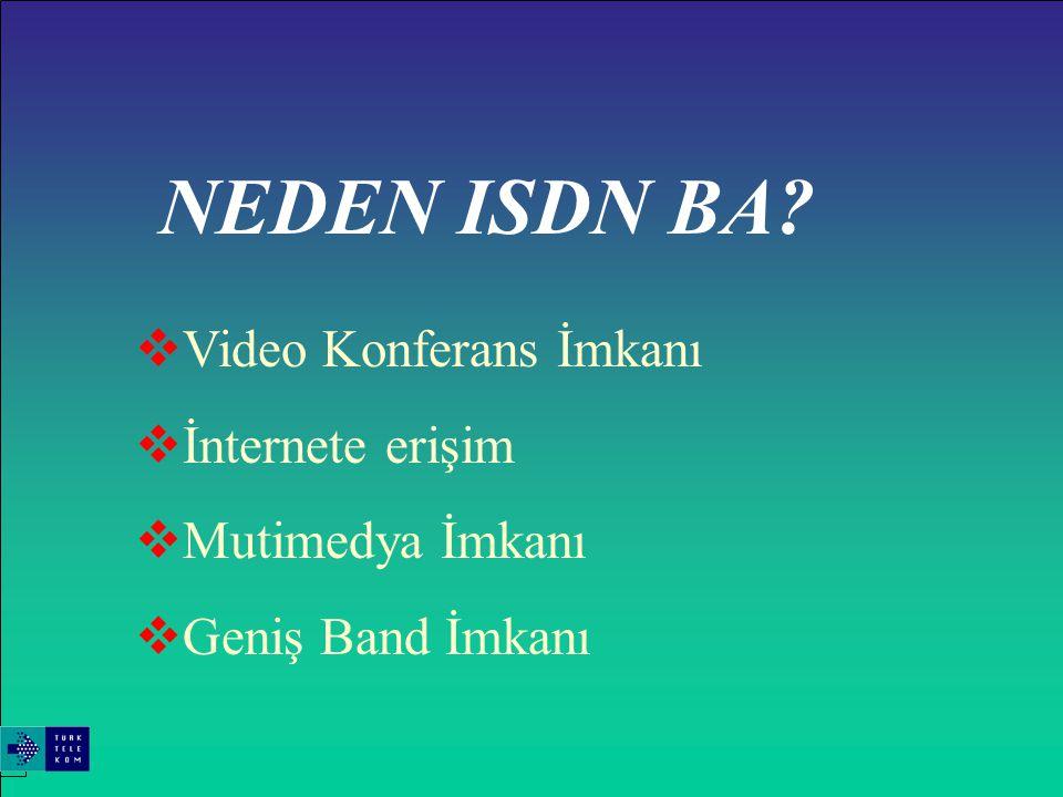 ISDN'in avantajları İNTERNET ERİŞİM ŞEKİLLERİ