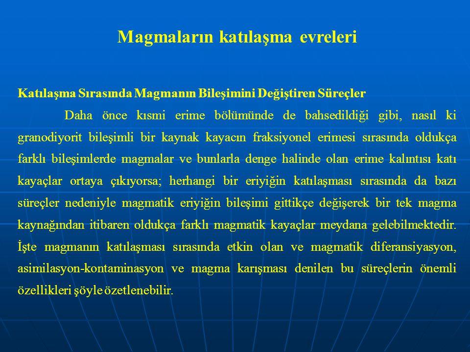 Magmaların katılaşma evreleri