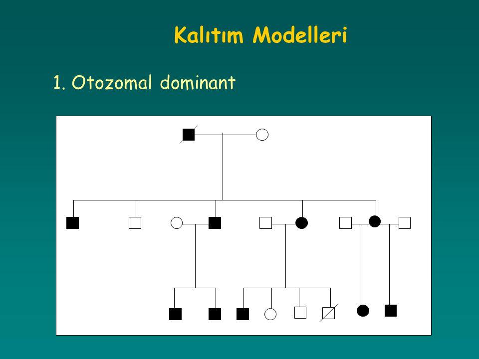 Kalıtım Modelleri 1. Otozomal dominant