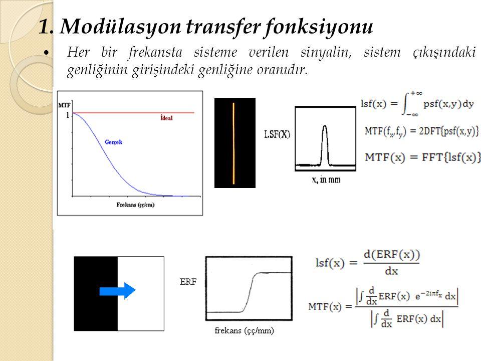 1. Modülasyon transfer fonksiyonu
