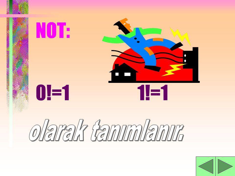 NOT: 0!=1 1!=1 olarak tanımlanır.