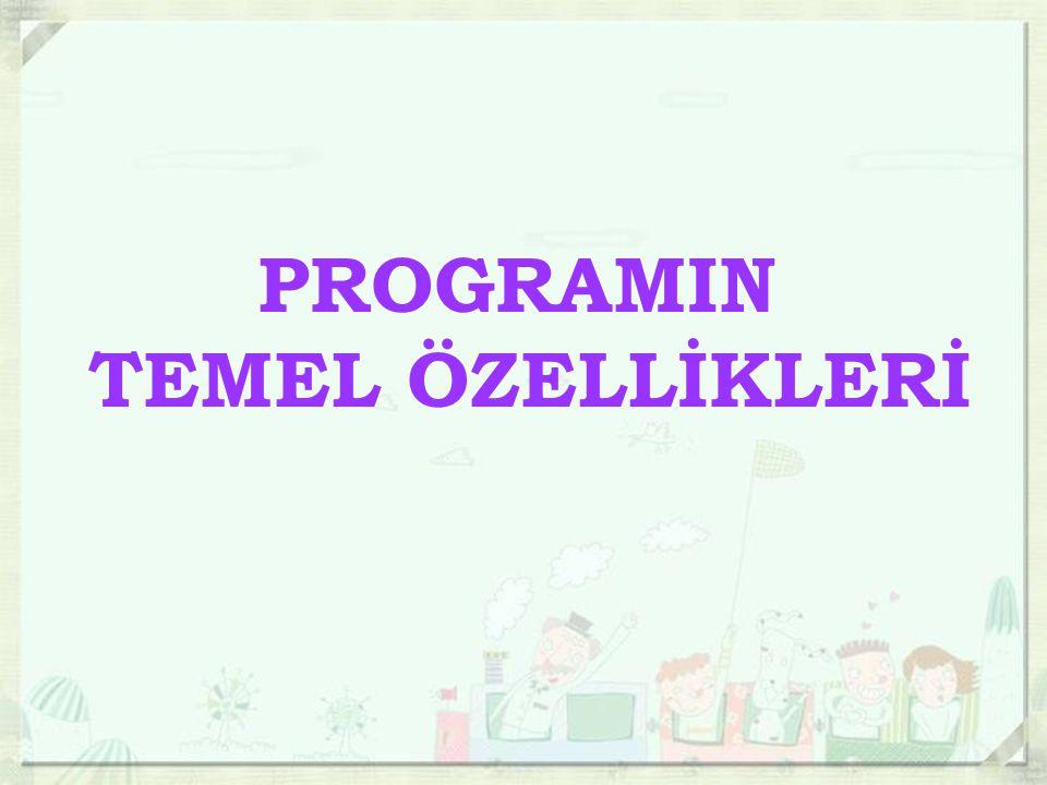 PROGRAMIN TEMEL ÖZELLİKLERİ