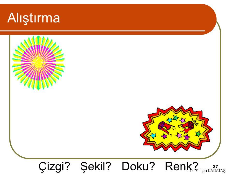 Alıştırma Çizgi Şekil Doku Renk Dr. Serçin KARATAŞ