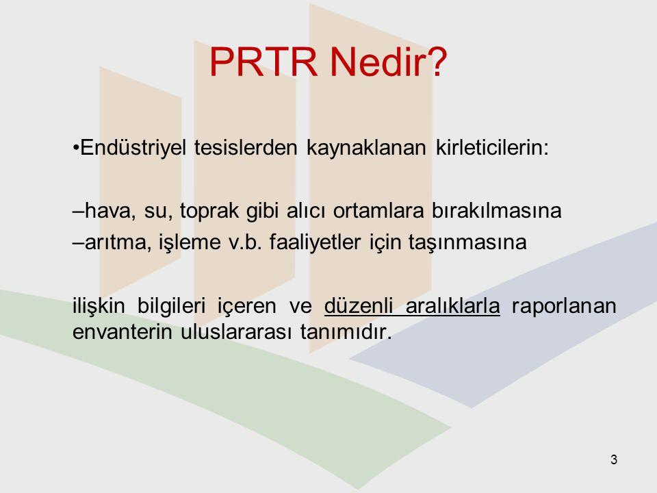 PRTR Nedir Endüstriyel tesislerden kaynaklanan kirleticilerin: