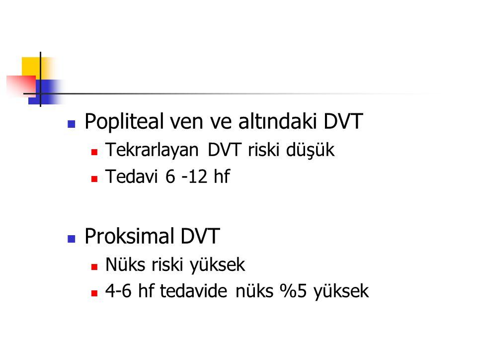 Popliteal ven ve altındaki DVT