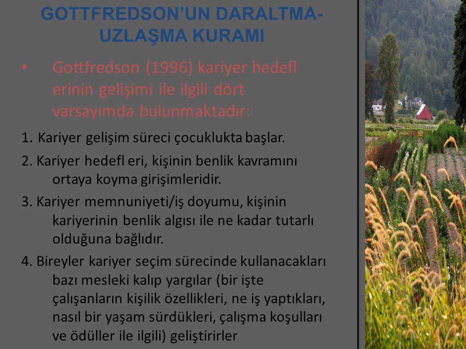 GOTTFREDSON'UN DARALTMA-UZLAŞMA KURAMI