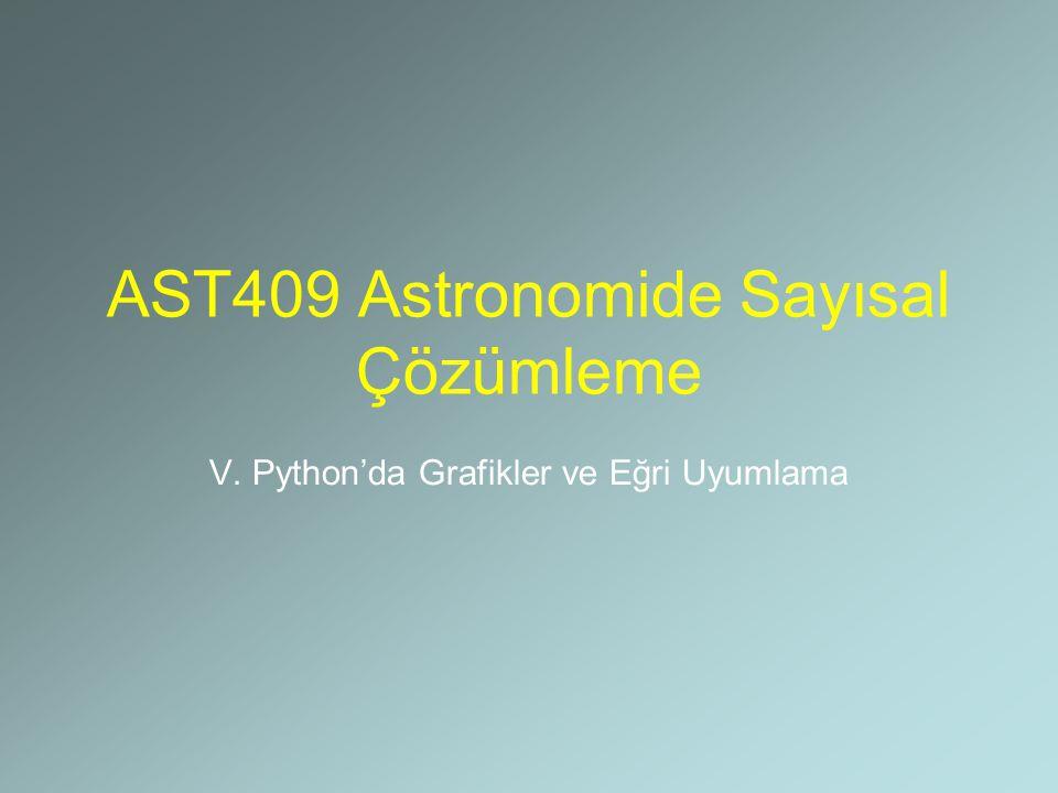 AST409 Astronomide Sayısal Çözümleme