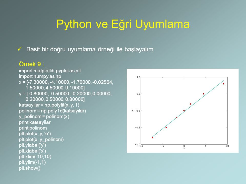 Python ve Eğri Uyumlama