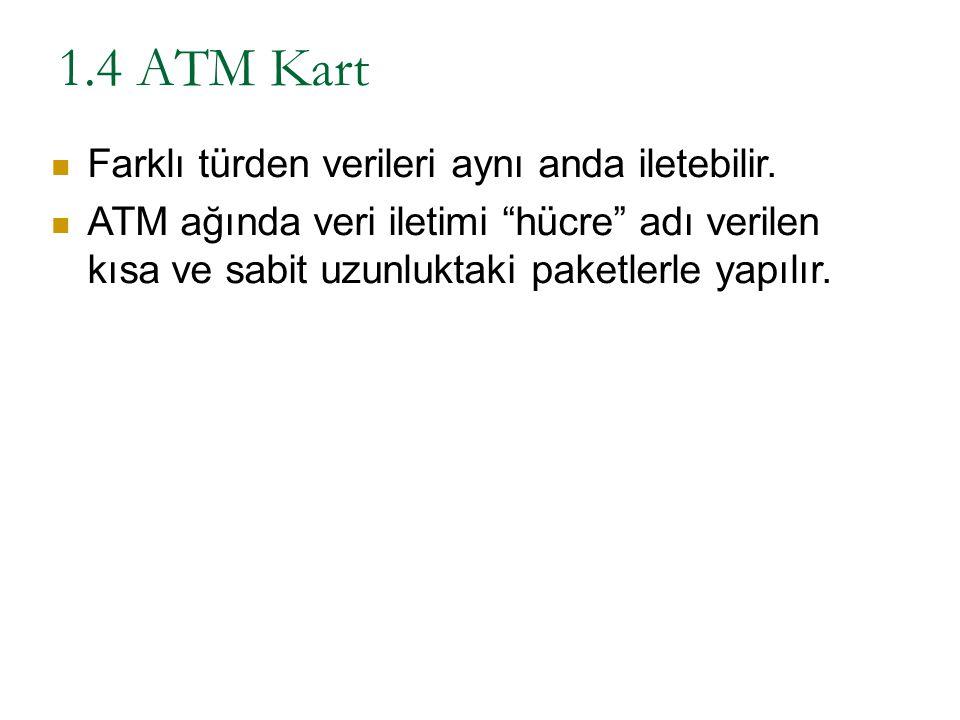 1.4 ATM Kart Farklı türden verileri aynı anda iletebilir.