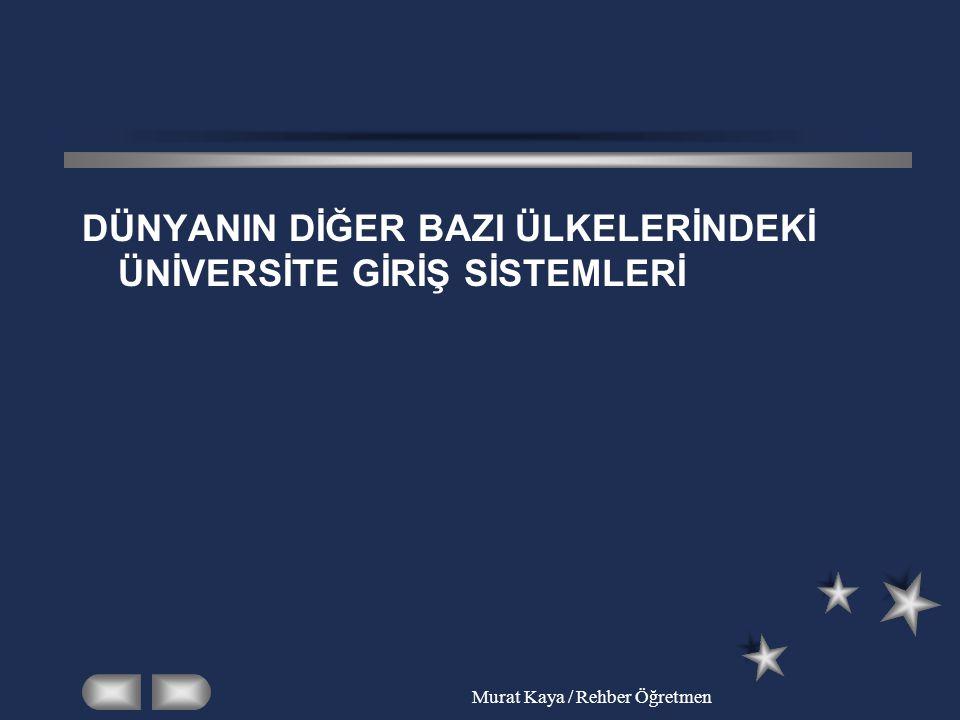 Murat Kaya / Rehber Öğretmen