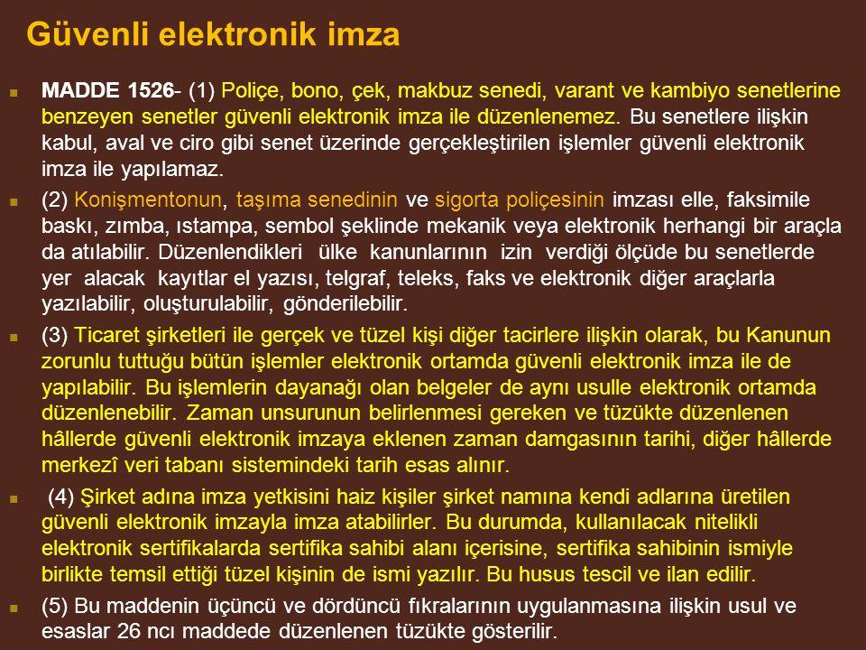 Güvenli elektronik imza