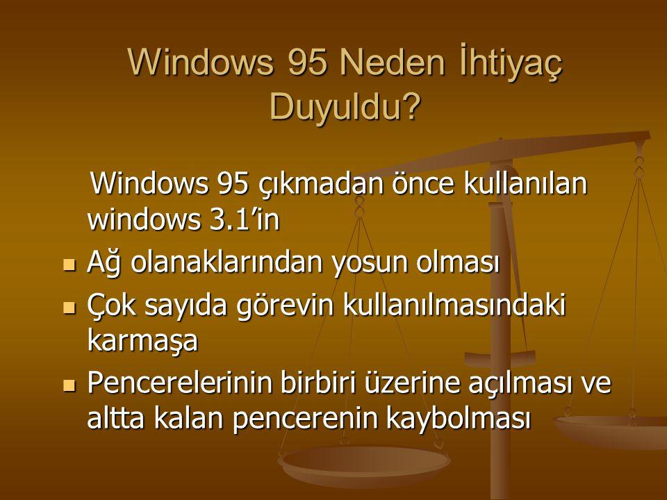 Windows 95 Neden İhtiyaç Duyuldu
