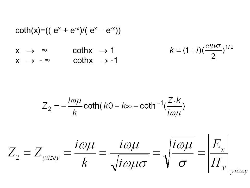 coth(x)=(( ex + e-x)/( ex – e-x))
