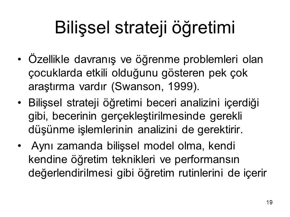 Bilişsel strateji öğretimi