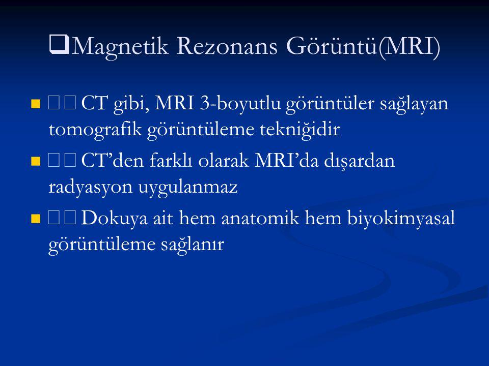 Magnetik Rezonans Görüntü(MRI)