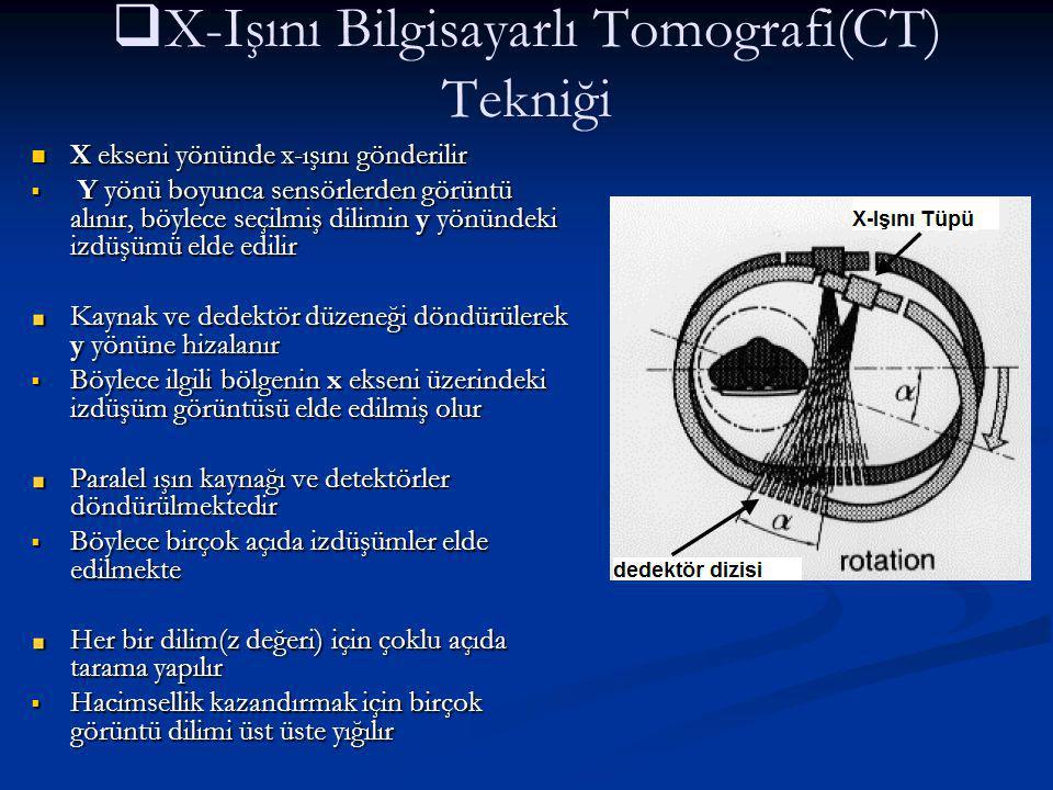 X-Işını Bilgisayarlı Tomografi(CT) Tekniği
