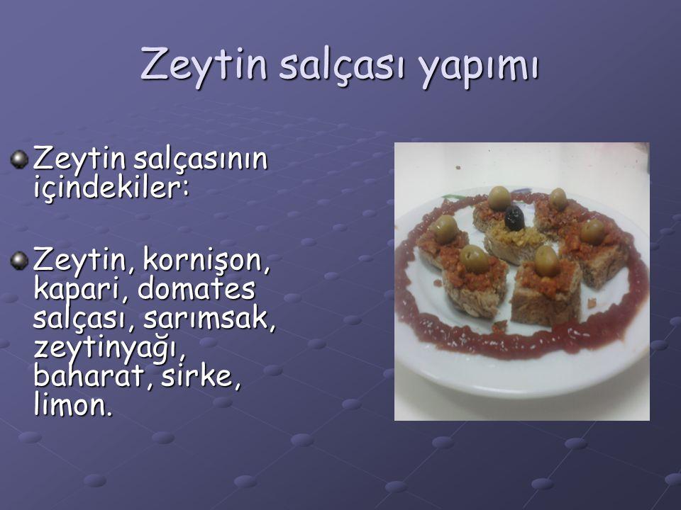 Zeytin salçası yapımı Zeytin salçasının içindekiler: