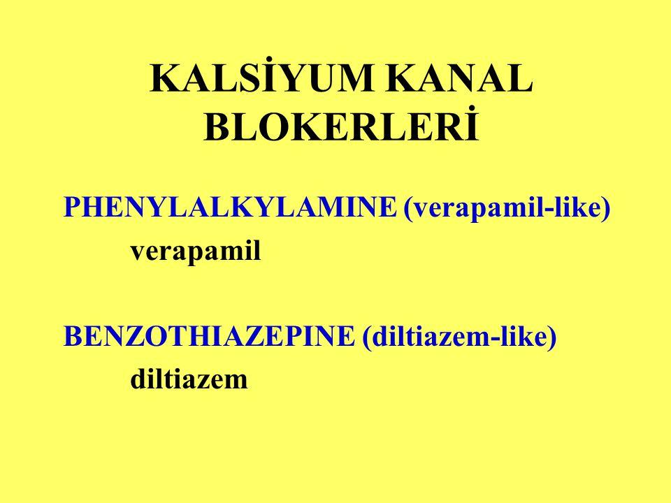 KALSİYUM KANAL BLOKERLERİ