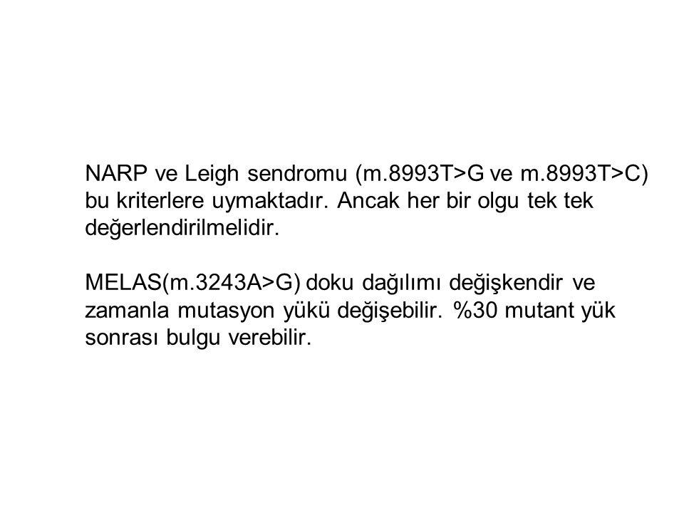 NARP ve Leigh sendromu (m. 8993T>G ve m