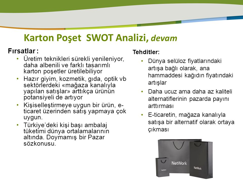 Karton Poşet SWOT Analizi, devam