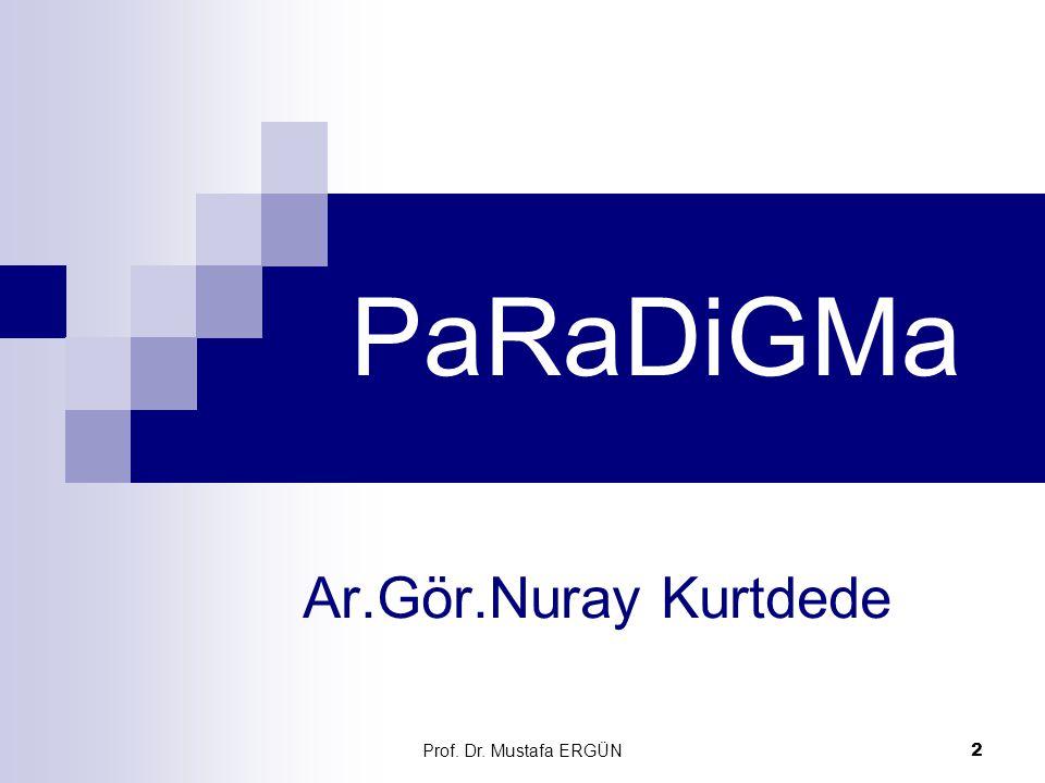 PaRaDiGMa Ar.Gör.Nuray Kurtdede Prof. Dr. Mustafa ERGÜN