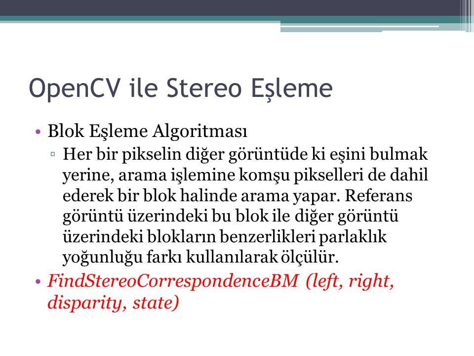 OpenCV ile Stereo Eşleme