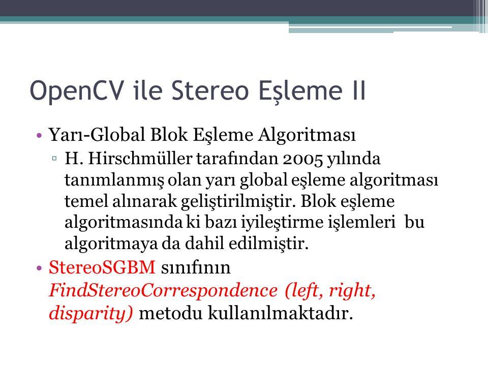 OpenCV ile Stereo Eşleme II