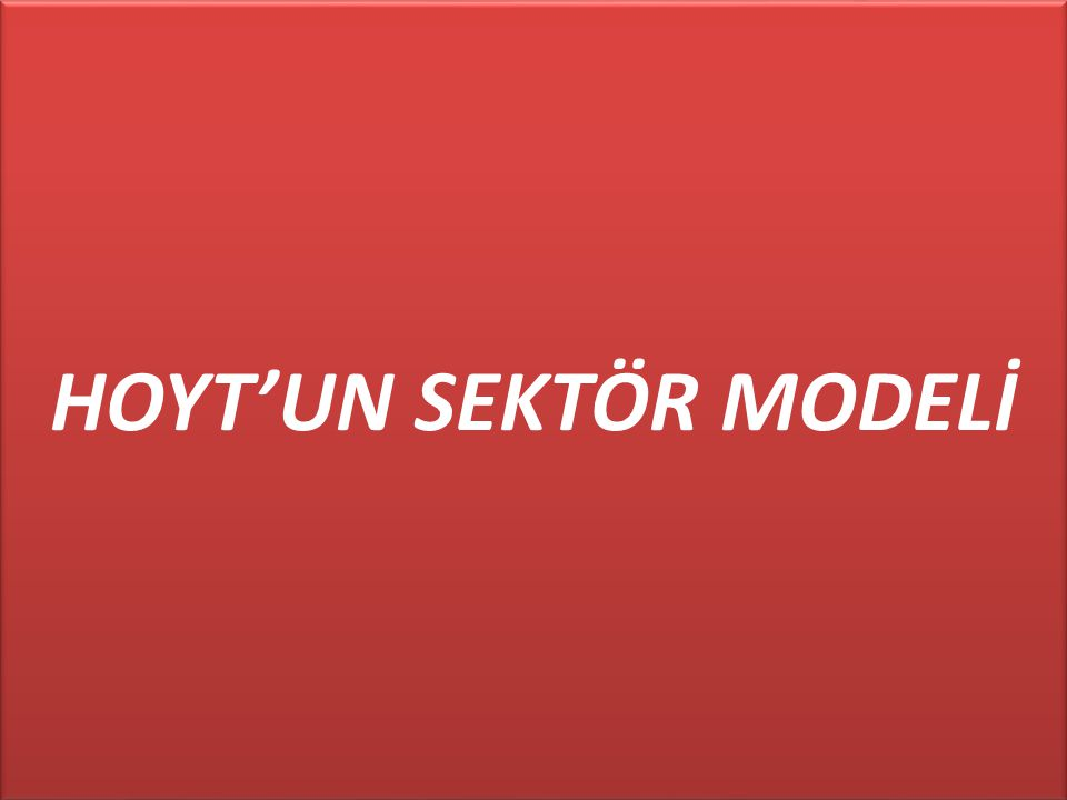 HOYT'UN SEKTÖR MODELİ