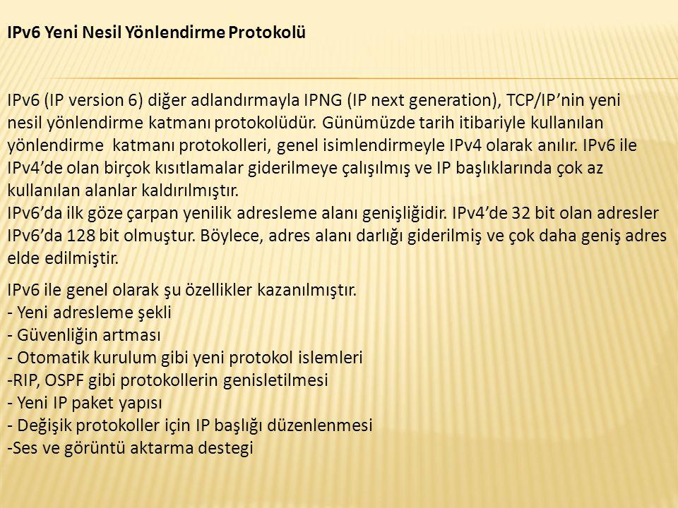 IPv6 Yeni Nesil Yönlendirme Protokolü