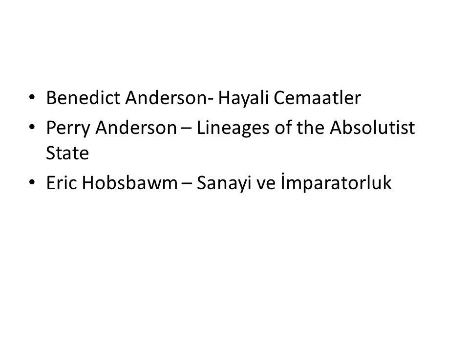 Benedict Anderson- Hayali Cemaatler