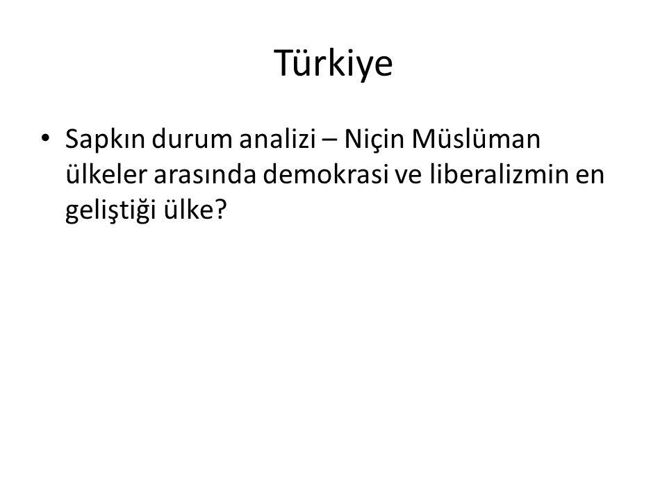 Türkiye Sapkın durum analizi – Niçin Müslüman ülkeler arasında demokrasi ve liberalizmin en geliştiği ülke