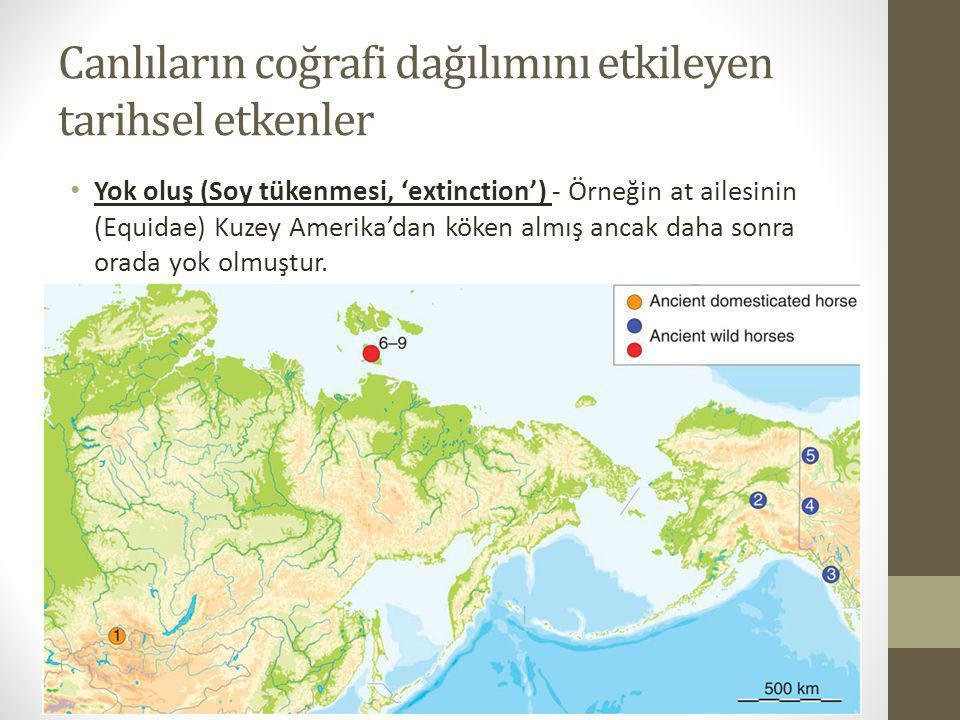 Canlıların coğrafi dağılımını etkileyen tarihsel etkenler