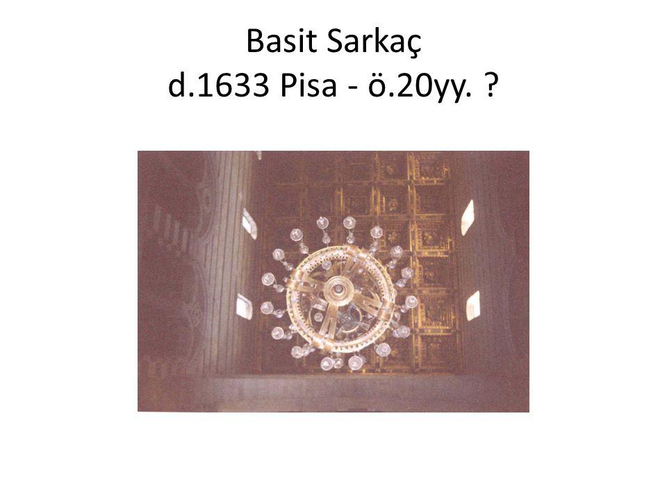 Basit Sarkaç d.1633 Pisa - ö.20yy.