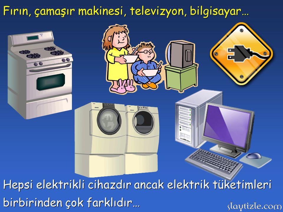 Fırın, çamaşır makinesi, televizyon, bilgisayar…