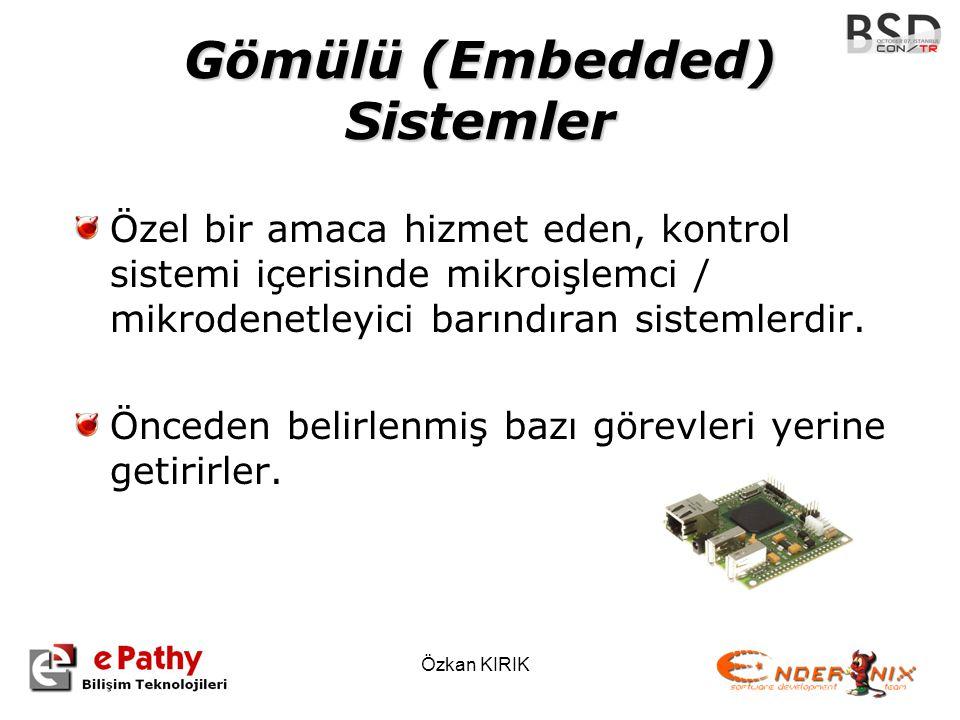 Gömülü (Embedded) Sistemler