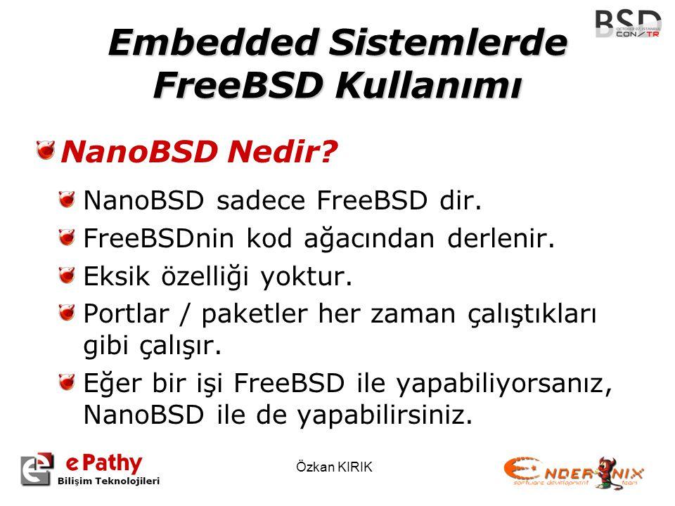 Embedded Sistemlerde FreeBSD Kullanımı