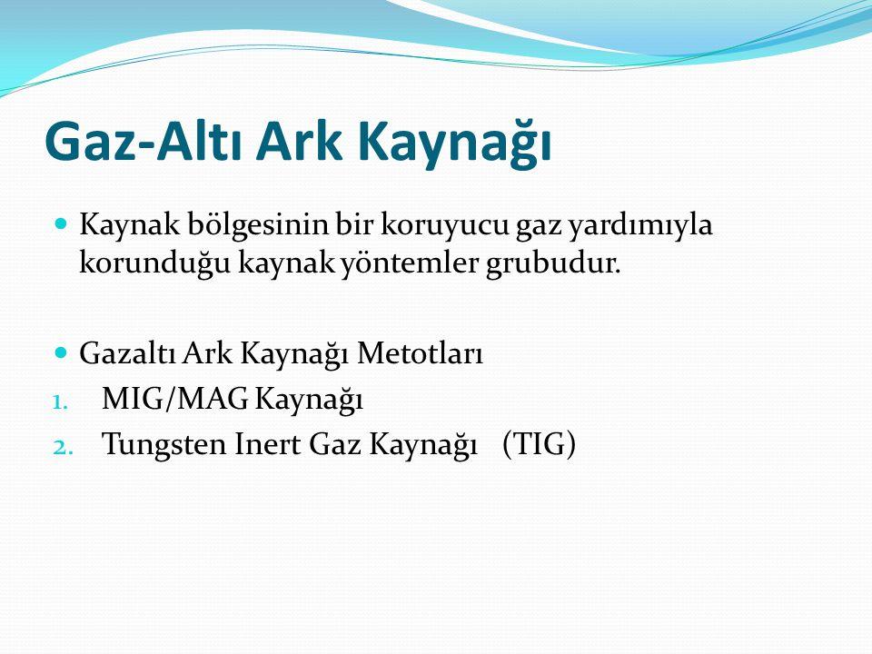 Gaz-Altı Ark Kaynağı Kaynak bölgesinin bir koruyucu gaz yardımıyla korunduğu kaynak yöntemler grubudur.