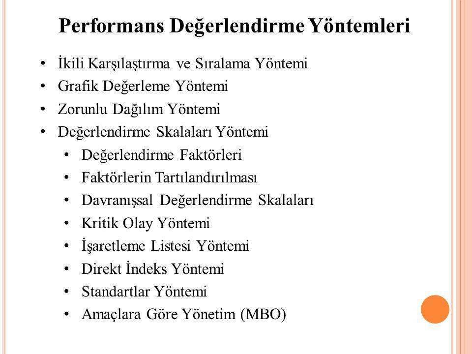 Performans Değerlendirme Yöntemleri